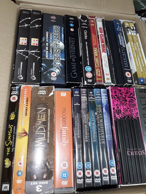 Lot 12005 APPROXIMATELY 25 DVDS BOX SETS AND DVDS,  TO INCLUDE,  THE SIMPSONS,  SEX IN THE CITY,  THE WORLD AT WAR , GAME OF THRONES & MORE
