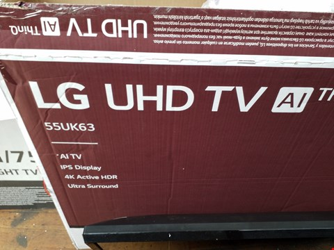 "Lot 1089 LG 55"" UHD 4K HDR SMART LED TELEVISION MODEL 55UK6300PLB RRP £1200.00"