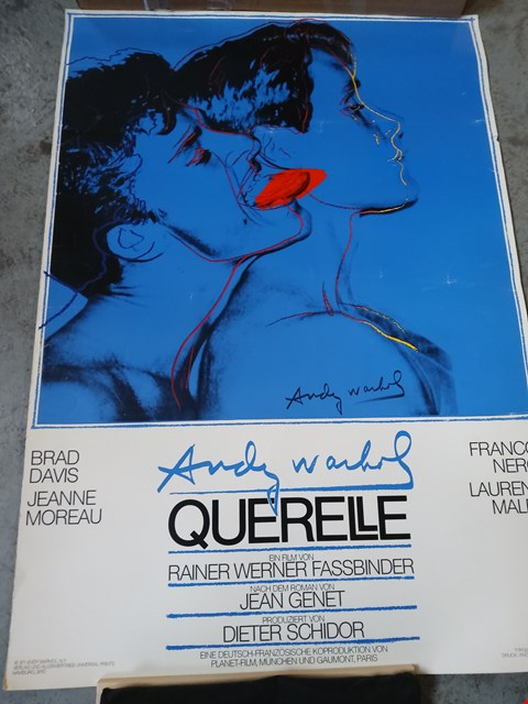 Lot 14015 ANDY WARHOL QUERELLE MOVIE POSTER