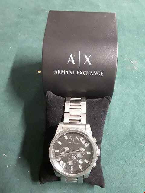 Lot 55 ARMANI EXCHANGE MENS DIAMANTÉ DETAIL SPORTS WATCH RRP £239