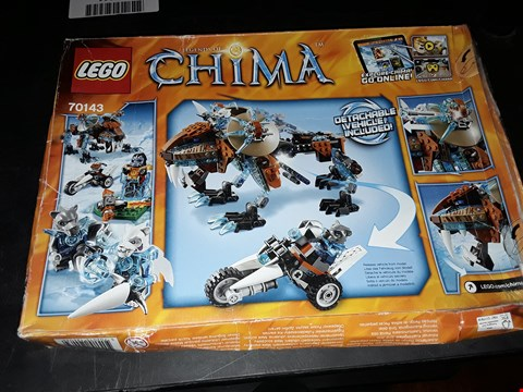 Lot 2059 LEGO LEGENDS OF CHIMA SIR FANGARS SABER-TOOTH WALKER