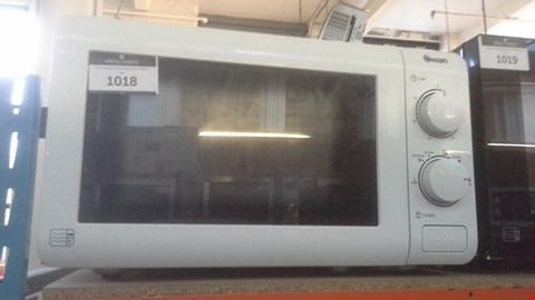 Lot 1018 SWAN 20L ESSENTIAL MICROWAVE OVEN SM22090W RRP £59.99