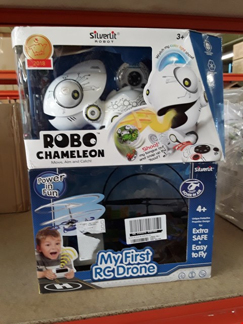 Lot 11190 LOT OF 2 GRADE 1 CHILDREN'S TOYS INCLUDES ROBOT CAMELEON AND MY FIRST R/C DRONE