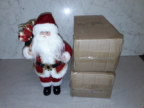 Lot 4061 LOT OF 3 AS NEW STANDING SANTA CHRISTMAS DECORATIONS