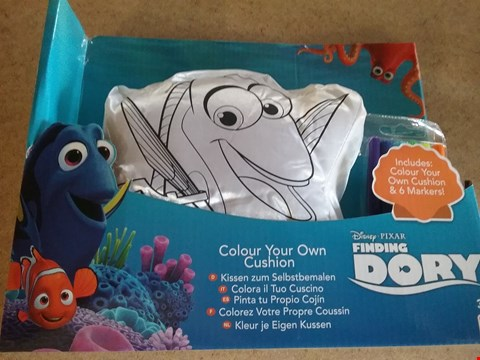 Lot 3028 5 BOXES OF APPROXIMATELY 30 BRAND NEW DISNEY FINDING DORY COLOUR YOUR OWN CUSHION