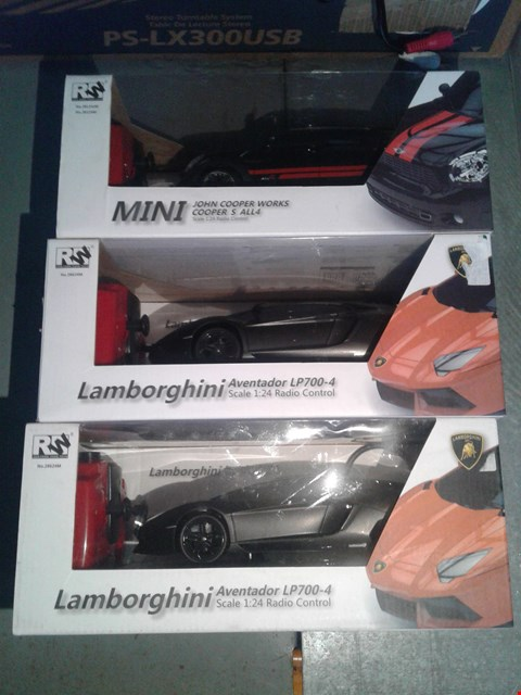 Lot 2259 LOT OF 3 BRAND NEW TOY CARS TO INCLUDE LAMBORGHINI AVENTADOR AND MINI COOPER
