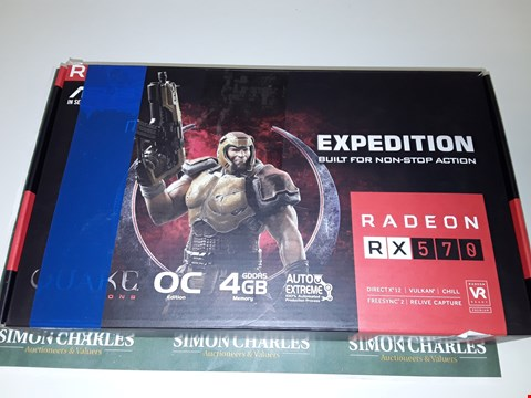 Lot 6072 ASUS GEFORCE RX570 GRAPHICS CARD