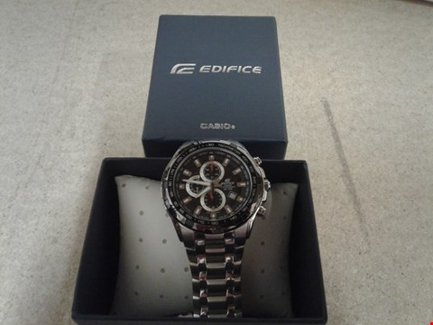 Lot 9037 CASIO EDIFICE STAINLESS STEEL BLACK FACE CHRONOGRAPH WATCH RRP £210.00
