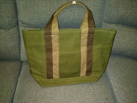 Lot 9138 BOX OF 6 JAZZI LONDON CANVAS TOTE BAGS IN OLIVE