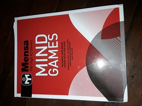 Lot 2125 MENSA MIND GAMES BOOK AND PUZZEL PACK