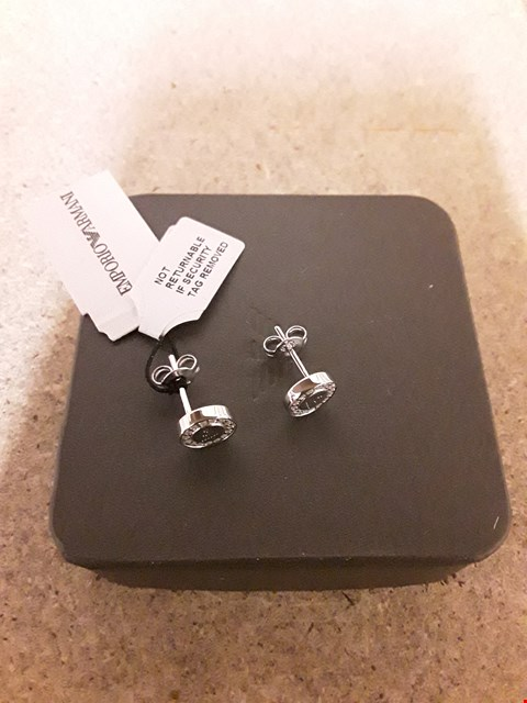 Lot 2243 EMPORIO ARMANI STAINLESS STEEL EARINGS RRP £113