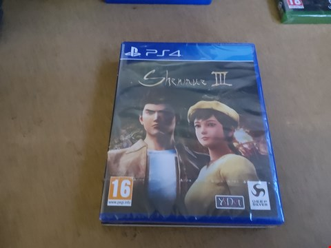 Lot 2569 PS4 SHENMUE III GAME