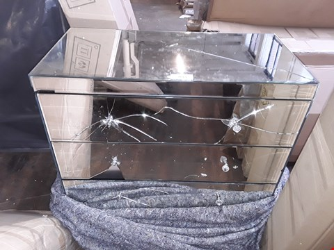 Lot 7013 MIRRORED 3 DRAWER CHEST OF DRAWERS