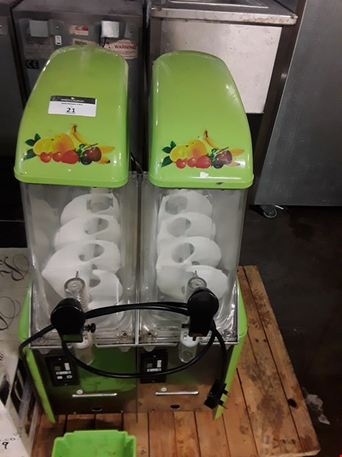 Lot 13529 COMMERCIAL DOUBLE SLUSH AND SMOOTHIE MACHINE