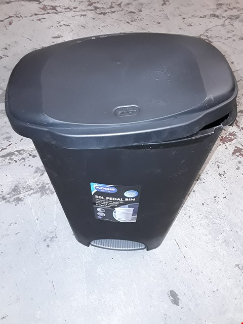 Lot 875 ADDIS 50 LITRE PEDAL BIN, BLACK RRP £20