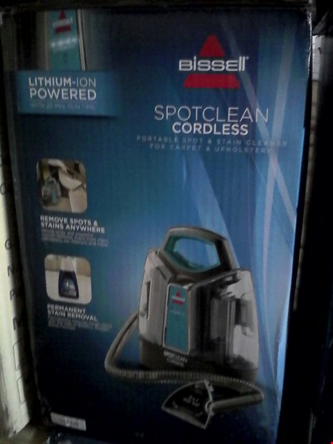 Lot 2079 BISSELL SPOTCLEAN CORDLESS CARPET AND UPHOLSTERY CLEANER
