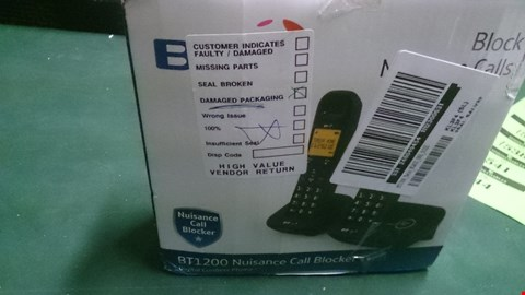 Lot 1525 BT 1200 NUISANCE CALL BLOCKER TWIN DIGITAL CORDLESS HOME PHONE  RRP £44.99