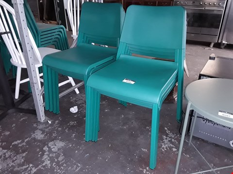 Lot 8088 LOT OF APPROXIMATELY 8 GREEN DINING CHAIRS