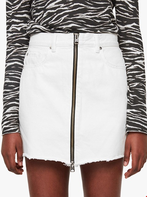 Lot 7042 ALLSAINTS LOMO WHITE SKIRT SIZE 8