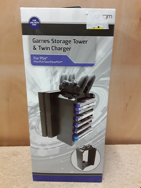 Lot 46 BRAND NEW BOXED VENOM GAMES STORAGE TOWER AND TWIN CHARGER FOR PS4
