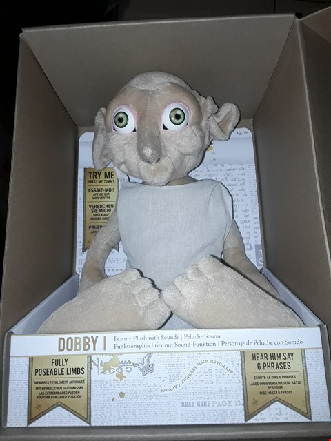 Lot 267 GRADE 1 HARRY POTTER DOBBY FEATURE PLUSH TOY RRP £43.99