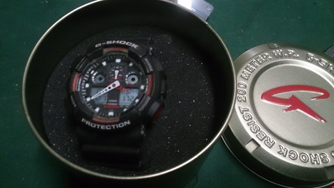 Lot 1514 CASIO G SHOCK BLACK WITH REDD ETAILS MENS WRIST WATCH Model 5081 IN PRESENTATION TIN RRP £154.00