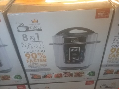 Lot 114 BOXED PRESSURE KING PRO 3L 8 IN 1 DIGITAL PRESSURE COOKER