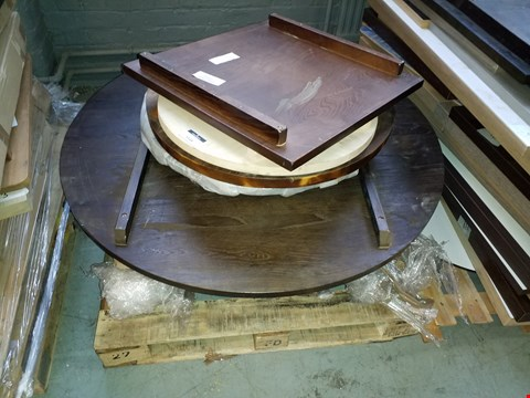 Lot 10221 PALLET OF ASSORTED TABLE TOPS IN VARIOUS SIZES AND DESIGNS