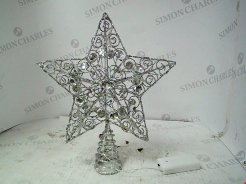 Lot 13004 SILVER STAR CHRISTMAS TREE TOPPER RRP £19.99