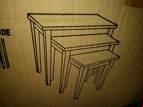 Lot 9177 BOXED ALDEN NEST OF TABLES (1 BOX) WHITE RRP £80.00
