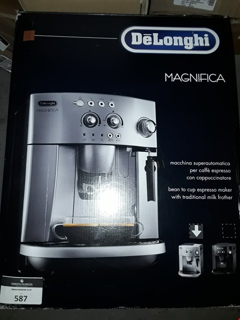 Lot 587 DELONGHI MAGNIFICA BEAN TO CUP COFFEE MACHINE