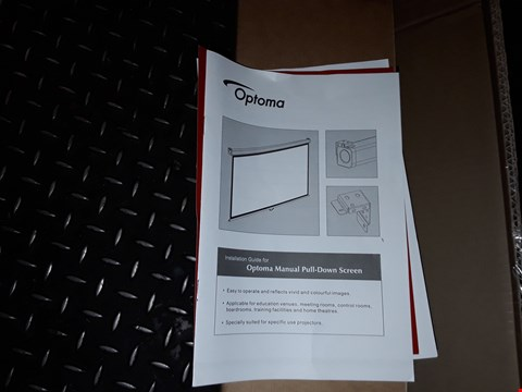 """Lot 1354 OPTOMA DS9092PWC 92"""" PULL DOWN SCREEN"""