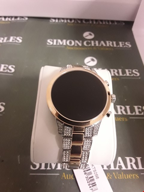 Lot 2341 MICHAEL KORS ACCESS FULL DISPLAY AND ROSE GOLD DETAIL DIAL TWO TONE STAINLESS STEEL BRACELET SMART WATCH RRP £389.00