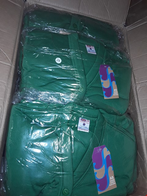Lot 1372 A BOX OF APPROXIMATELY 50 GIRL'S CARDIGANS - GREEN