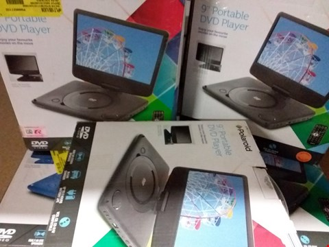 Lot 1422 LOT OF 5 POLAROID 9 INCH PORTABLE DVD PLAYERS (BOX CONDION AND ITEM COLOUR MAY VARY)