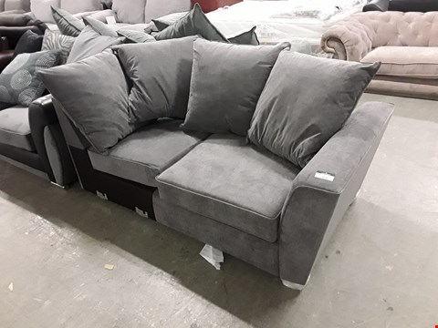 Lot 353 DESIGNER GREY FABRIC SOFA SECTION