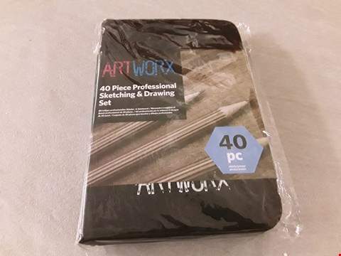 Lot 4295 ARTWORX PROFESSIONAL 40-PIECE SKETCHING AND DRAWING SET