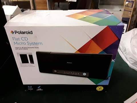 Lot 1179 BOXED POLARIOD FLAT CD MICRO SYSTEM  RRP £17