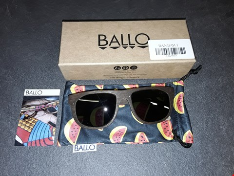 Lot 8165 BOXED BRAND NEW BALLO WOODEN FRAMED GLASSES WITH DUST COVER