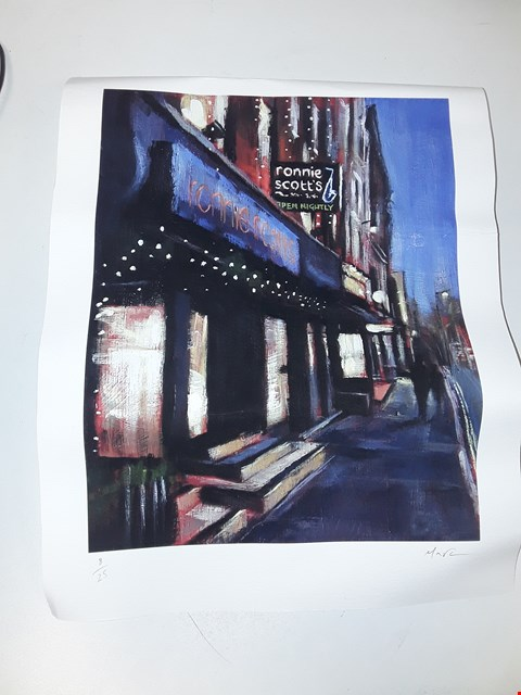 Lot 12 RONNIE SCOTTS PRINT BY MARC GOODERHAM NUMBERED 8/25
