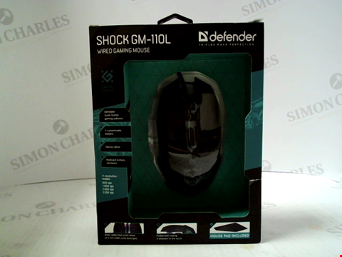 Lot 398 BRAND NEW DEFENDER SHOCK GM-110L WIRED GAMING MOUSE