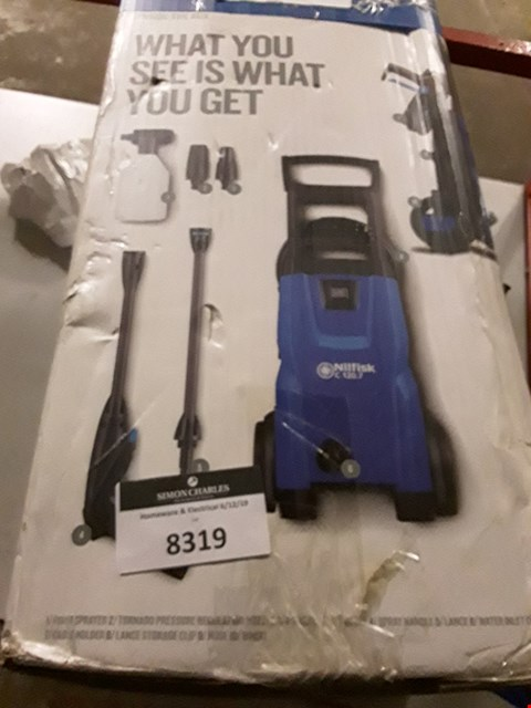Lot 8319 NILFISK C120 7-6 PATIO AND BRUSH PRESSURE WASHER - BLUE