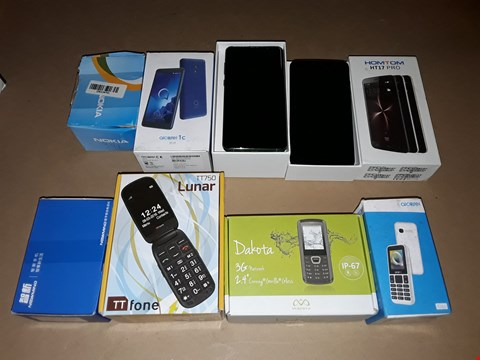 Lot 44 LOT OF 8 ASSORTED BOXED MOBILE PHONES TO INCLUDE NOKIA 301 AND ALCATEL 1066