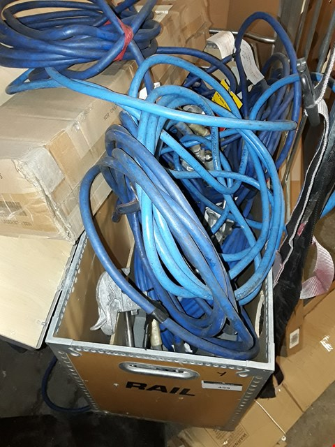 Lot 499 CASE OF ASSORTED BLUE EARTHING CABLES