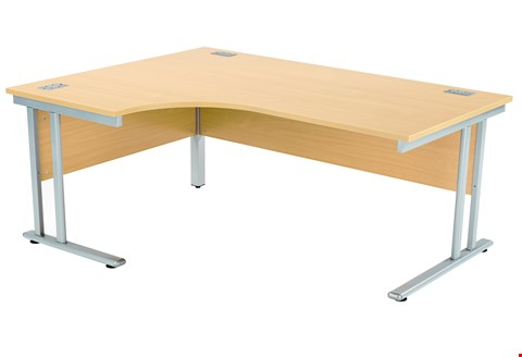 Lot 1 BRAND NEW BOXED FRACTION 2 LEFT HAND 180 CORE WORKSTATION - NOVA OAK WITH SILVER FRAME RRP £405.00