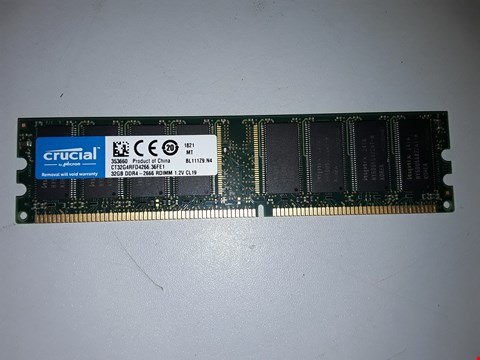 Lot 511 CRUCIAL DDR4 32GB MEMORY