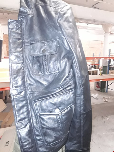 Lot 2186 LOT OF APPROXIMATELY 6 ASSORTED BRAND NEW  BLACK LEATHER JACKETS RRP £200