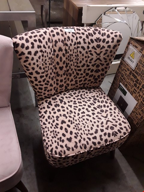 Lot 7100 DESIGNER LEOPARD PRINT COCKTAIL CHAIR