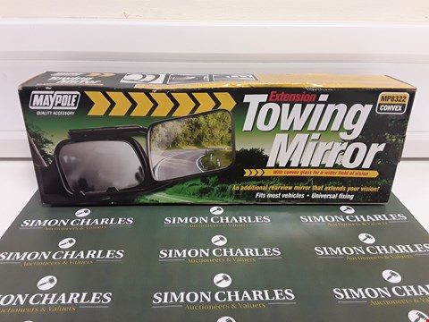 Lot 380 BOXED MAYPOLE MP8322 CONVEX EXTENSION TOWING MIRROR
