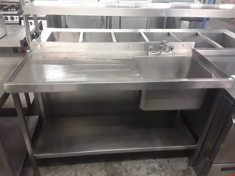 Lot 57 SINGLE BOWL COMMERCIAL SINK UNIT 1400X600